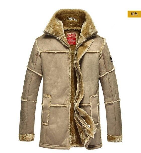 손목 시계 ! 새로운 남자의 겨울 따뜻한 고품질의 고전적인 캐주얼 유명한 럭셔리 Thicken 긴 모피 가죽 재킷 공군 코트 의류
