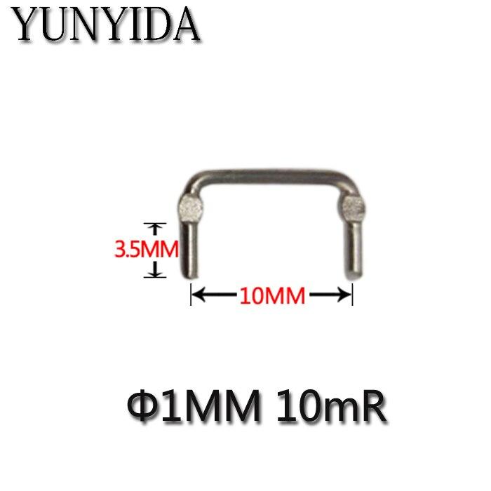 01-11  20pcs  Constantan Resistance / Sampling Resistor 10 Milliohms / 0.01R/10mR / Pitch 10mm / Diameter 1mm