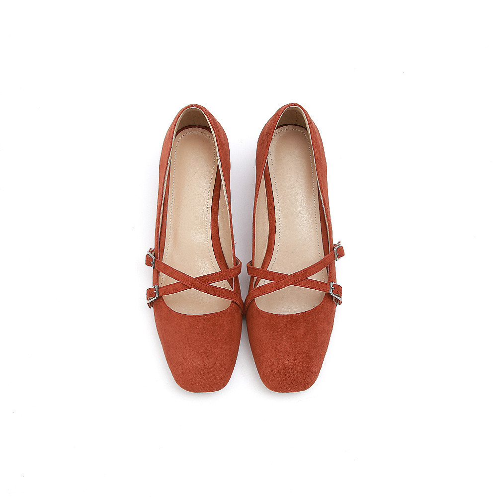 Color Square Scarpe Heels Lotus Donna Simple Med Rosso Janes Red Donna Flock color Caramel Toe Primavera Nude casual Autunno Heel Pink Asumer Pink Mary gEAqfI