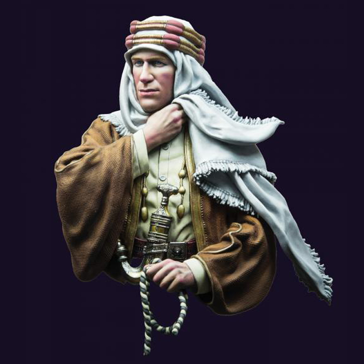 1/10 Resin Bust Model Kit  T.E. Lawrence, 1917 Unassembled And Unpainted  X219G
