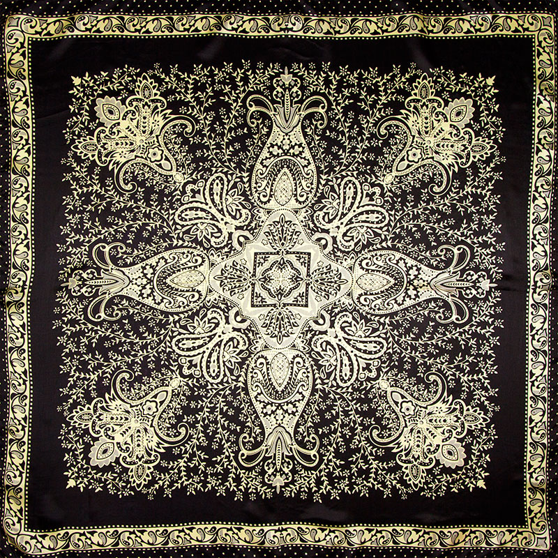 100% Silk   Scarf   Women   Scarf   Paisley Headscarf   Scarf   Silk Bandana 2019 Hijab Flower Middle Square Silk   Scarf     Wrap   Gift for Lady