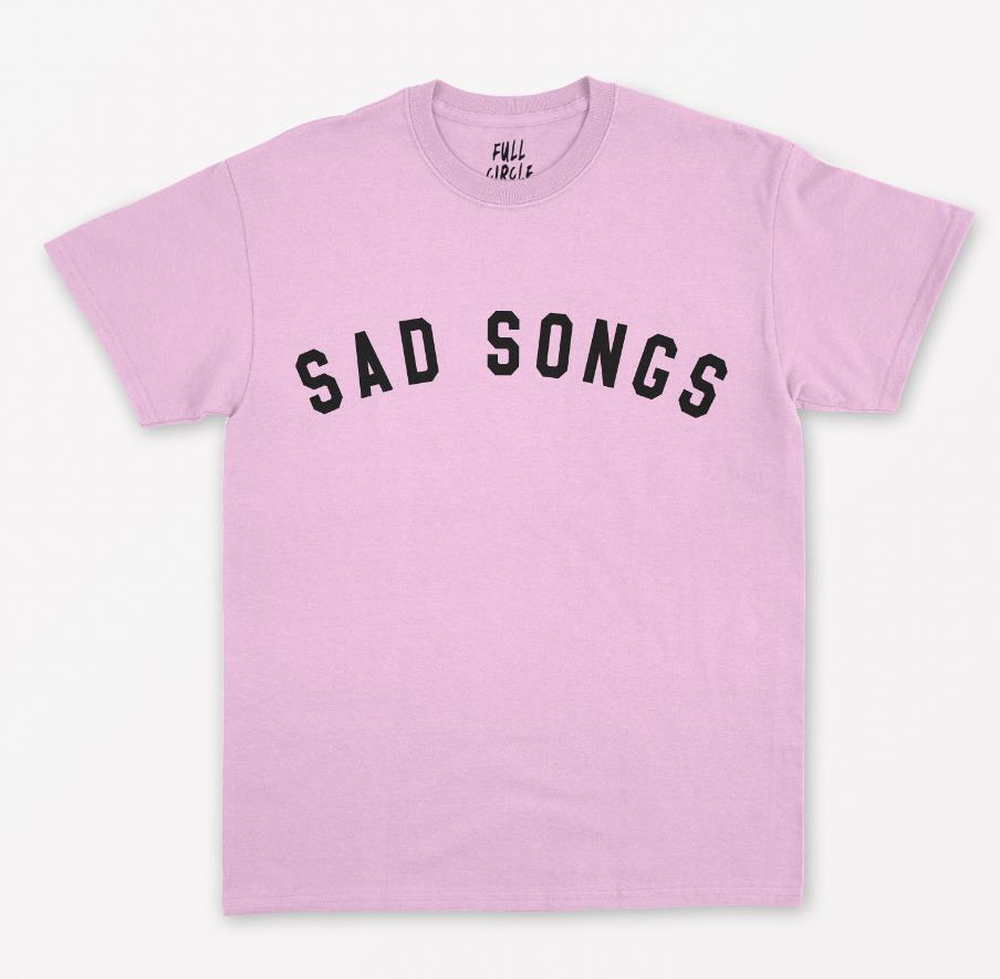 Sad Songs Letters Women T shirt Cotton Casual Funny Shirt For Lady Top Tee Tumblr Hipster Drop Ship NEW-110 image