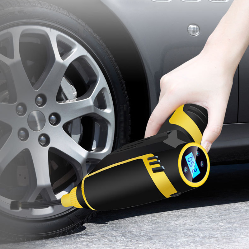 Automatic Wireless Handheld Tire Inflator Portable Air Compressor Pump with Tire Pressure Gauge Car Accessories Car Styling