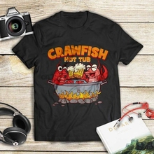 9f460099d7 Funny Louisiana T Shirt Crawfish Boil Hot Tub Gildan Ultra Cotton Graphic  Tee(China)