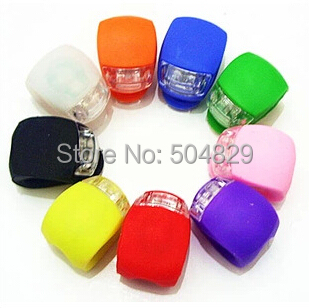 wholesale 480pcs lot Gel Silicone bike bicycle LED light one touch waterproof Flash Warning Lamp