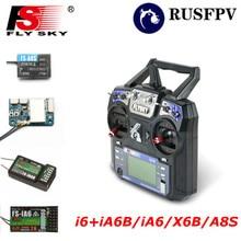 Flysky Transmitter FS i6 2,4G 6CH передатчик с FS-iA6 Receiver FS-A8S приемник для вертолета самолета FPV гоночный Дрон Mode1 Mode2