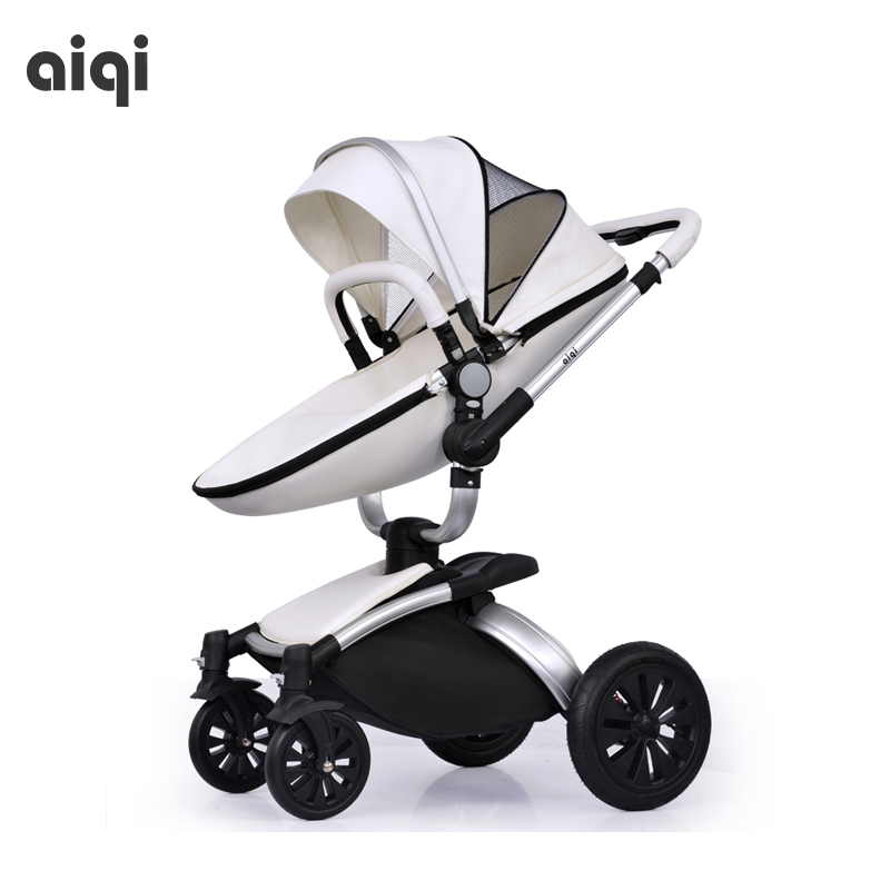 купить AIQI High landscape baby stroller have a sleeping basket can lie can sit Deluxe Edition baby stroller free shipping по цене 40730.5 рублей