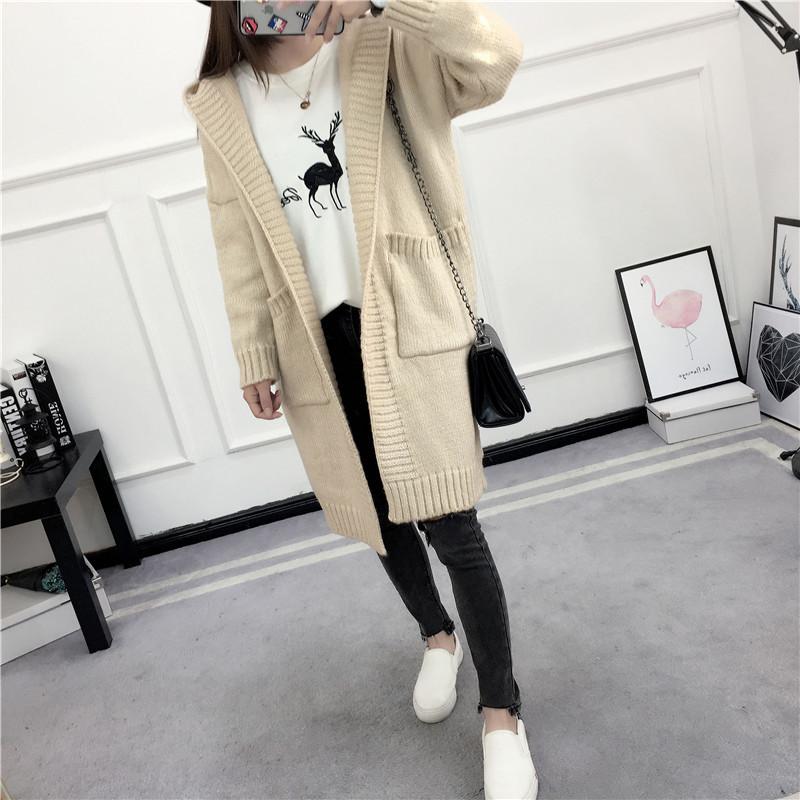 HTB1SvJ7SVXXXXbfXXXXq6xXFXXXb - Women Long Knitted Sweater Coat Hooded Sweater Cardigans JKP039