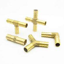 4mm 5mm 6mm 8mm 10mm 12mm 14mm 16mm 19mm 25mm Hose Barb Brass Barbed Straight Elbow Tee Y 2 3 4 Way Pipe Fitting Connector(China)