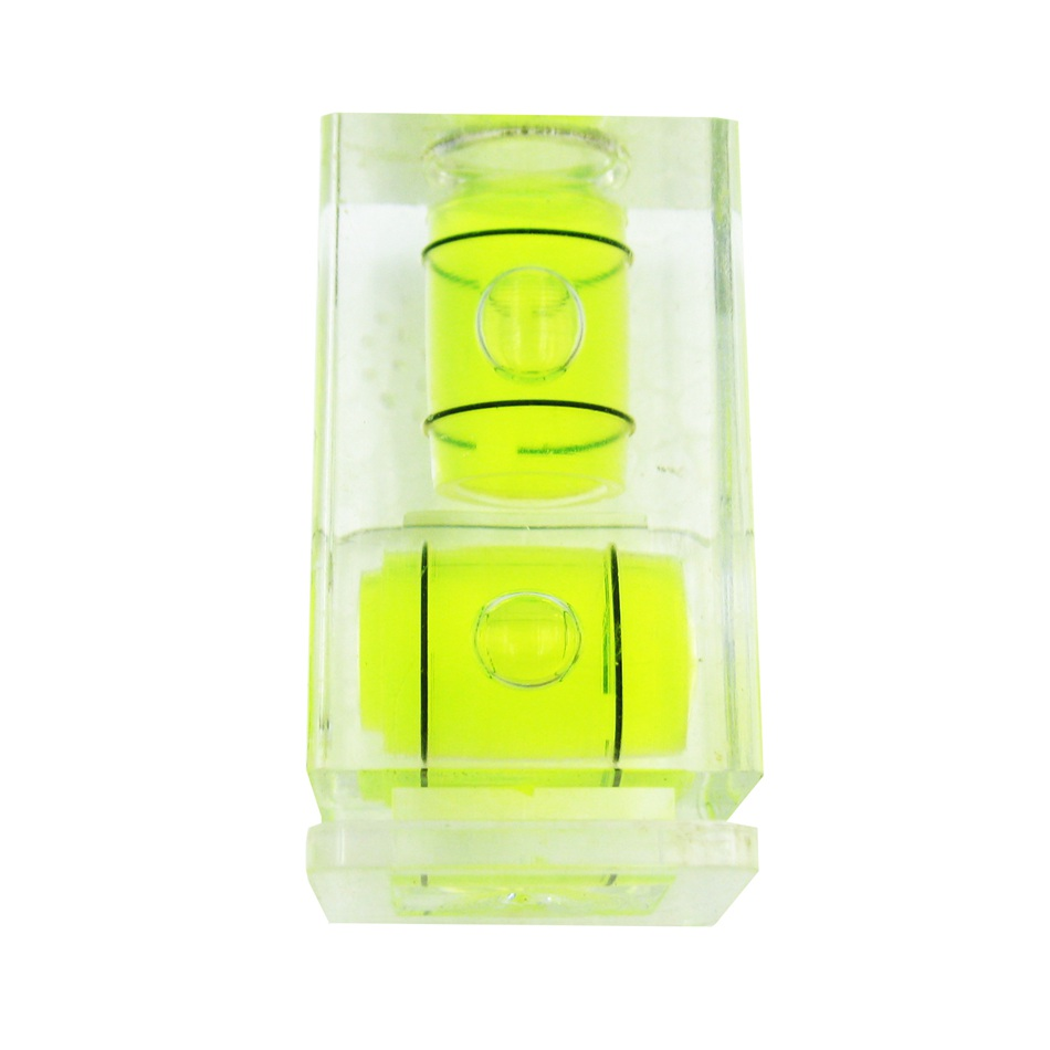 HACCURY Two Type Spirit Level Green Mini Bubble Level Hot shoe Level for Camera Accessories Size 33*19mm 3d hot shoe triple axis bubble gradienter for sony canon more green
