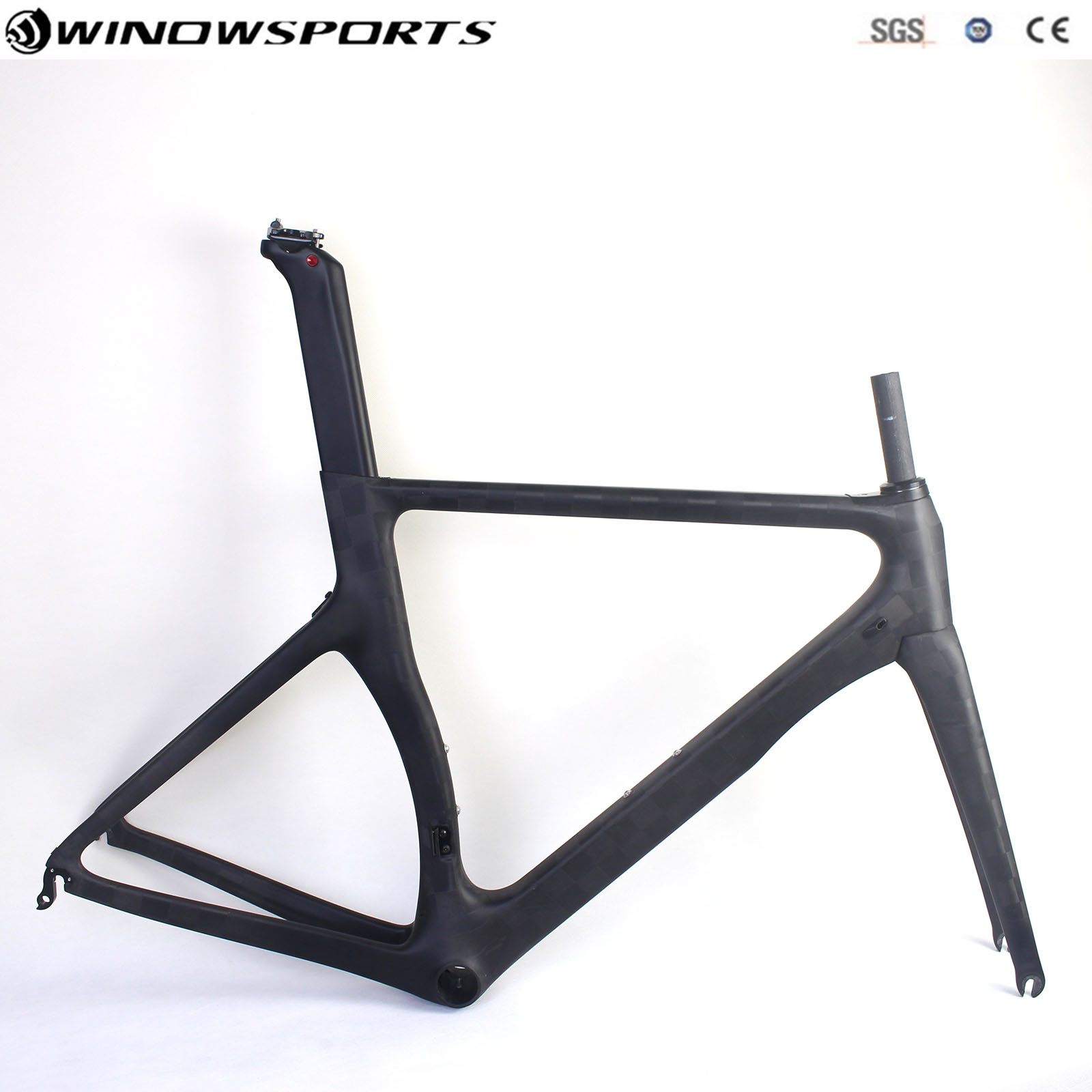 Full Carbon Aero Road Bike Frame With Headset Aero Racing Bicycle Carbon Frameset Taiwan Road Bike Frame