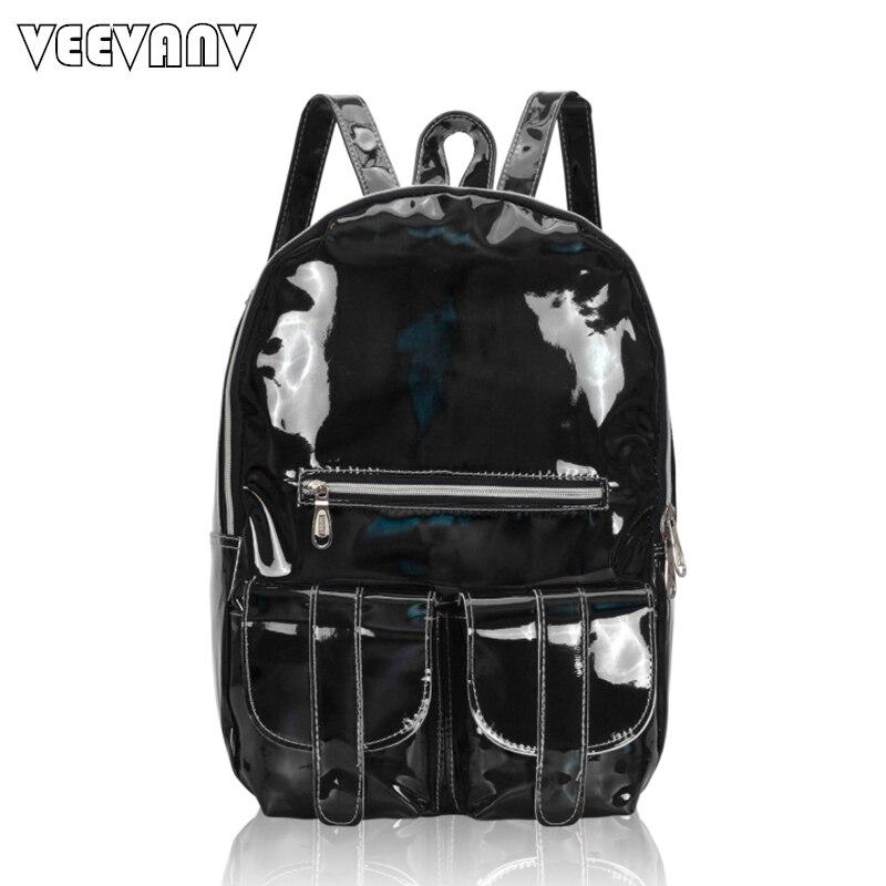 2017 Fashion Women Backpack Female School Backpack Waterproof Travel Bag Shoulder Bag Designer Laser Sparkling Backpack
