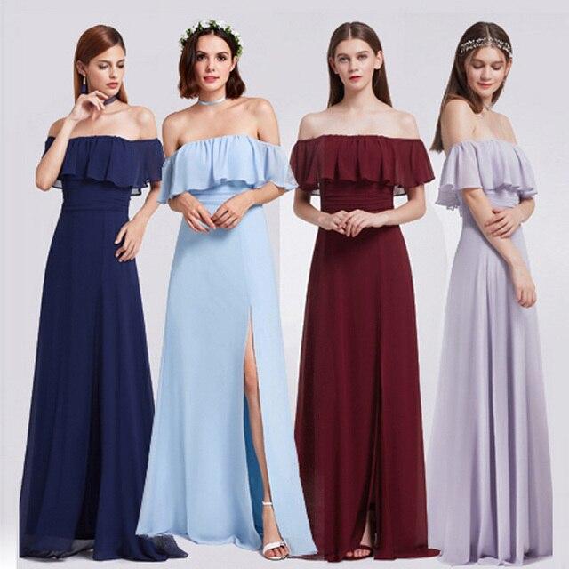 2018 Ever Pretty New Women Sexy Elegant Evening Dresses A-Line Sleeveless Ruffles Backless Side Split Casual Evening Party Dress