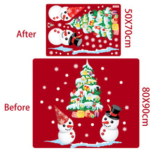 QIFU Window Christmas Tree Snowman Wall Sticker Christmas Clasic Hanging Snowman Decoration For Home Xmas Window Stickers Decor