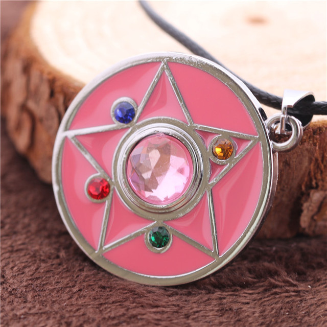 Sailor Moon Power Necklace Pink Color Pendant High Quality Gift For Girls