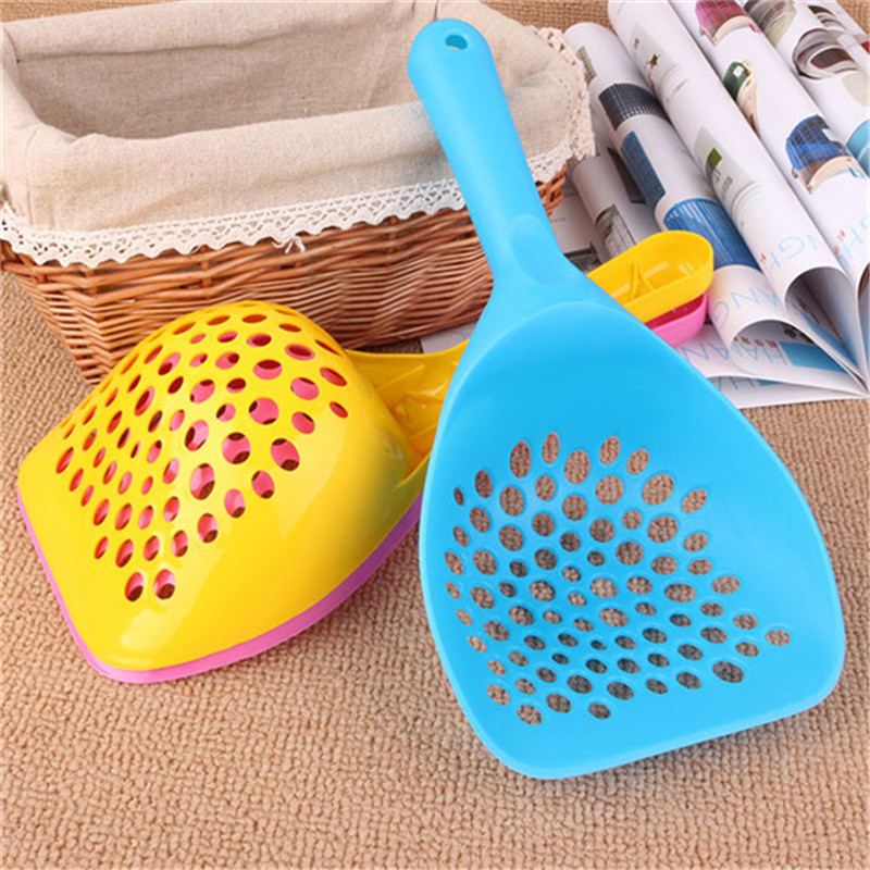 High Quality Pet Shovel Kitten Sand Waste Scooper Shovel Plastic Litter Scoop Clean Tool For Pet Dog Cat Free Shipping Ph29