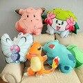 Pokemon ir série charmander pokemon dos desenhos animados, bulbasaur, clefairy, buttrtfree, shaymin almofadas travesseiro, pokemon brinquedos de pelúcia