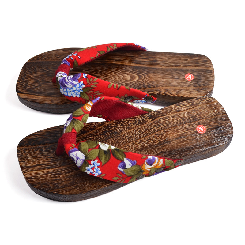 Japanese Geta Heel Flip Flops For Woman 2017 Summer Onmyoji Anime Cosplay Costumes Wooden Shoes Japanese Geta Clogs For Female