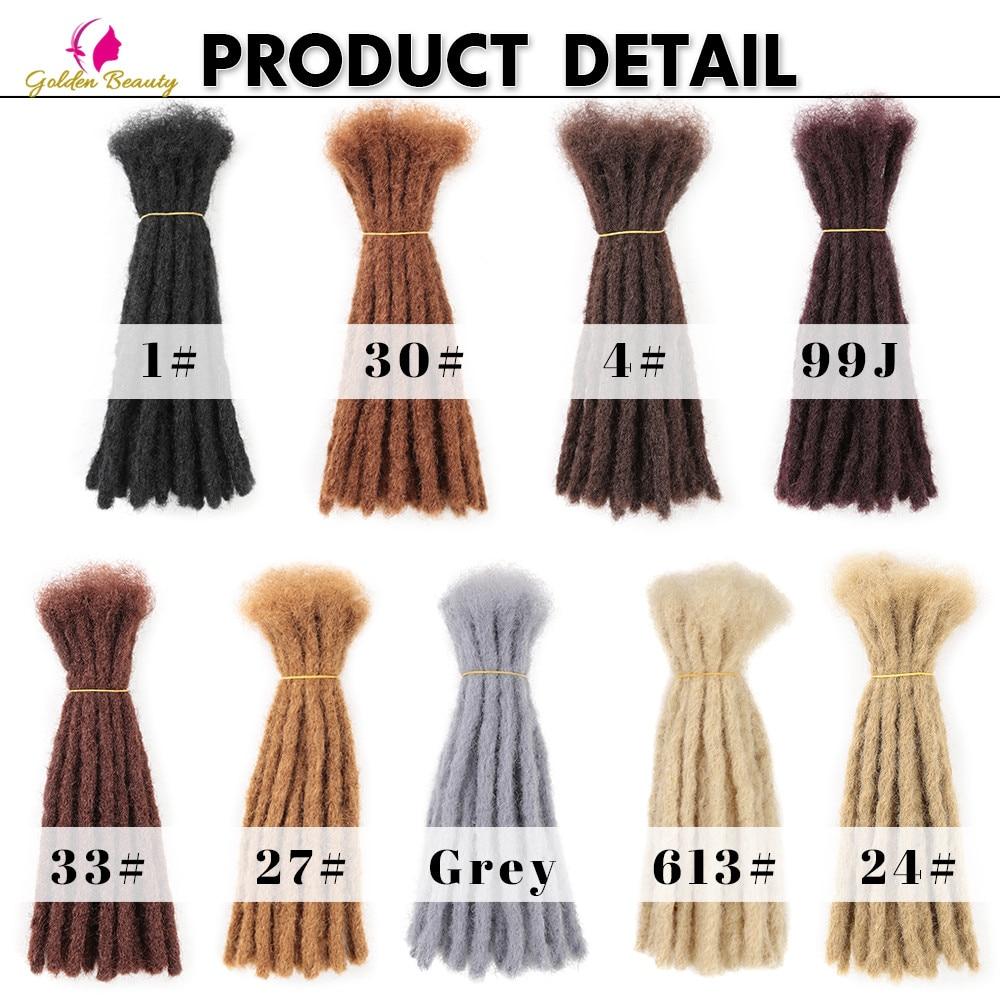 "Golden Beauty 6"" 10"" Handmade Dreadlocks Hair Extensions 5strands Synthetic Dreadlock Crochet Hair For Women Men 4"