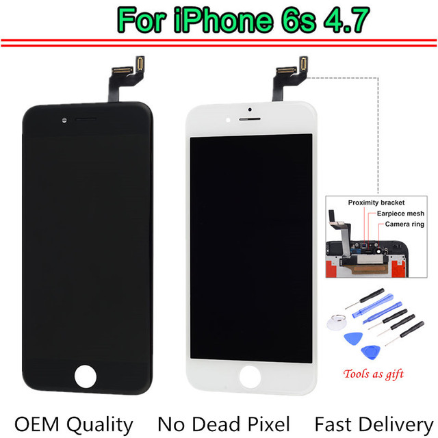 hot sale online 44ff8 3f83a US $39.69 |OEM Screen For iPhone 6s LCD Screen Replacement Display with 3D  Touch Screen Digitizer Assembly 4.7inch LCDs with Tools-in Mobile Phone ...