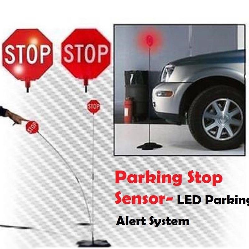 Garage Parking Sensor LED Stop Sign Garage Parking Light Assistant System Flashing Led Light Parking Stop Sign Drop shipping цена