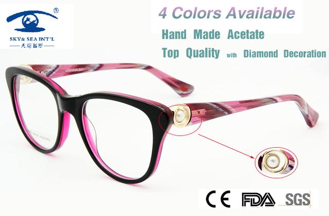 Nuevo 2015 de la Marca de Diseño en Londres armacao Gafas oculos Mujeres Gafas de Diamantes de Lujo