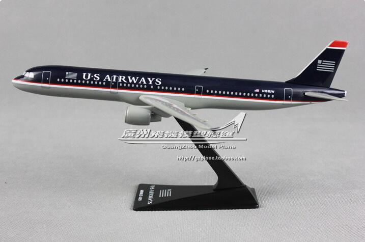 22CM New US Airlines A321 plastic model aircraft child Birthday gift plane models chiristmas gift model aircraft