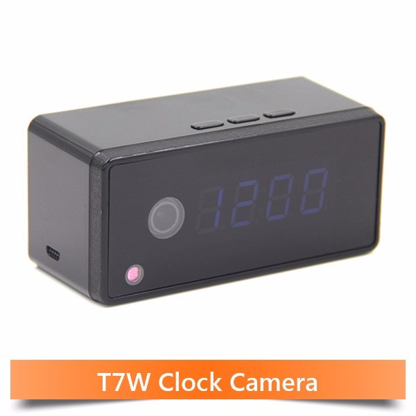Wifi Clock Camera Alarm Setting 720P HD H.264 IP Mini Kamera Night Vision Table Clock Camera Video Cam Mini DV DVR Camcorder