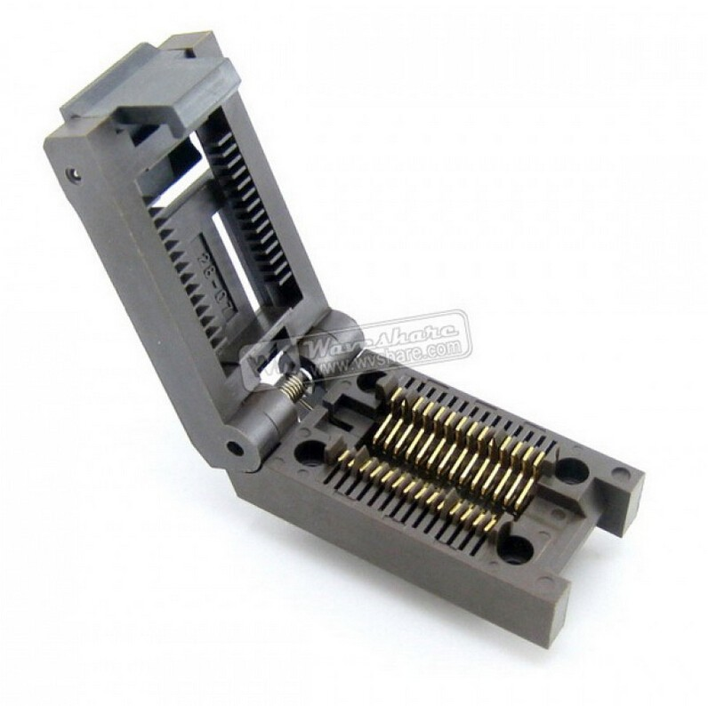 ФОТО SOP28 SO28 SOIC28 FP-28-1.27-07 Enplas IC Test Burn-In Socket Programming Adapter 7.9mm Width 1.27mm Pitch FREE SHIPPING