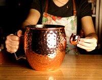 Giant 5L Hammered Moscow Mule Mug Mega Mug Moscow Mule Ice Bucket Mug 4