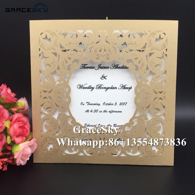 50 free shipping new arrival flowers rose design paper invitation