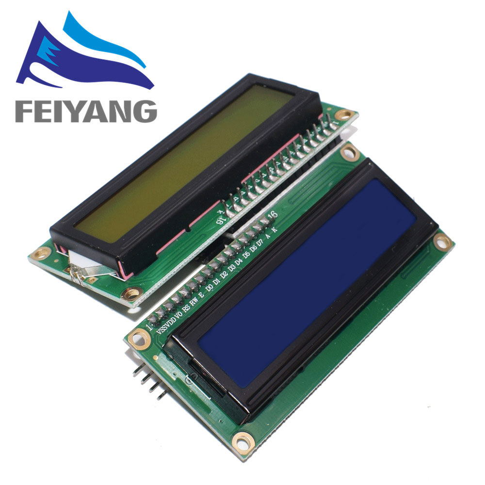 lcd 1602 i2c character table
