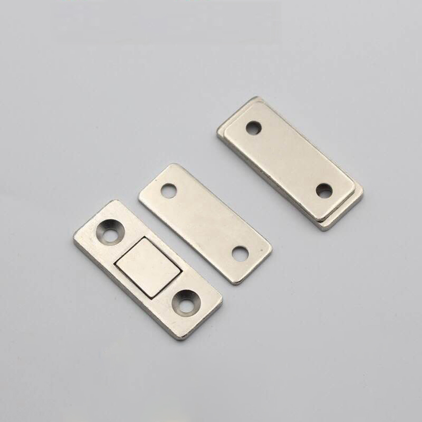 1 Pair Strong Magnetic Door Catch Cabinet Magnet Ultrathin