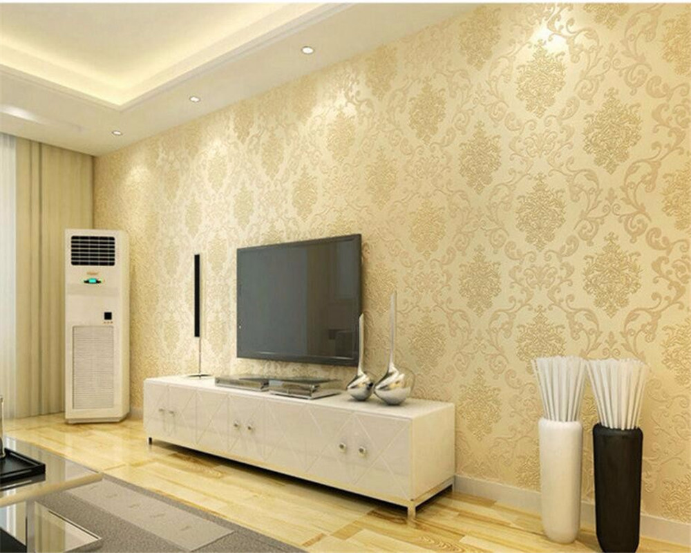 Beibehang Home decoration wallpaper bedroom living room video wall ...