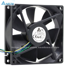 Free Shipping Original Delta AFB0912VH = AUB0912VH 9cm 90mm 90*90*25MM 9225 DC 12V 0.60A 4-pin pwm computer cpu cooling fans delta pfr0912xhe 9cm 90mm 4 5a 90 90 38mm dc 12v server extensions machine cooling fan