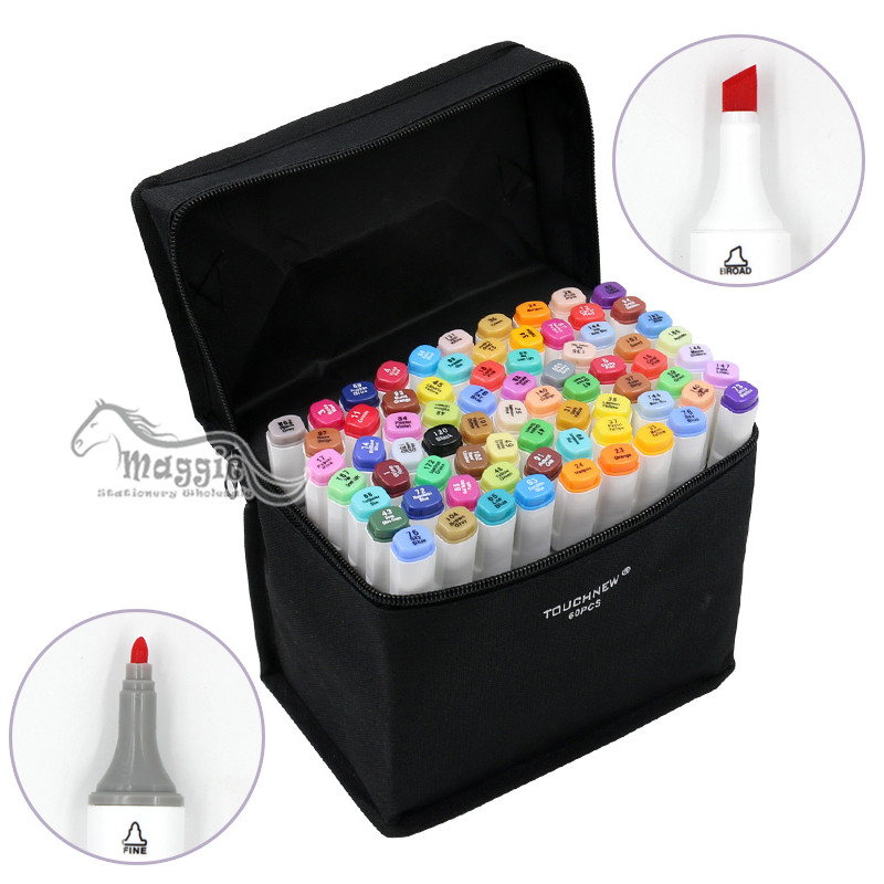 168 Colors/Set TOUCHNEW Art Markers Marker Alcohol Based Double-end Permanent Twin Marker Pen with Pen Case mirror light led waterproof antimist bathroom mirror glass wall lamp nordic brief modern mirror cabinet lamp led lighting