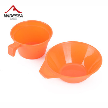 Widesea camping tableware cup bowl outdoor cooking set camping cookware travel tableware pincin set hiking cooking utensils 3
