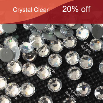 round shape  Austrian quality hot fix rhinestone ss20 hot fix white clear color 50 gross 7200 pcs per pack  free shipping