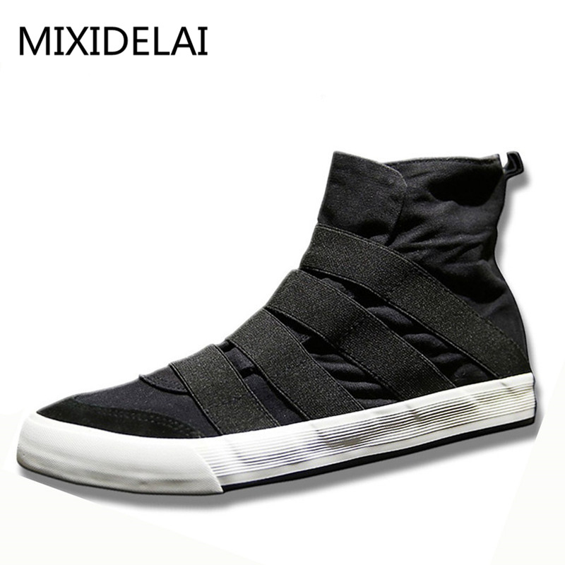 MIXIDELAI High Top Men Shoes Flats Slip On Casual Shoes Male Canvas Shoes Plimsolls Espadrilles Man Sneakers Zapatillas Hombre canvas shoes men breathable lace up flats high top men s casual shoes high quality male canvas shoes trainers zapatillas hombre