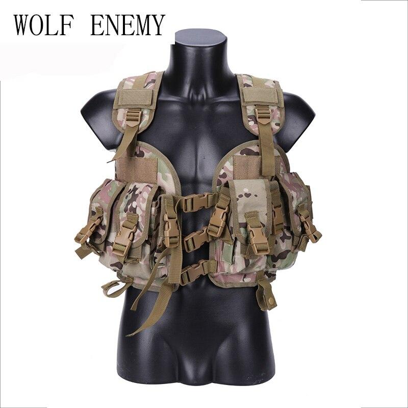 Neutral Waterproof Protective Tactical Vest Outdoor Camouflage CS Equipment Seal 97