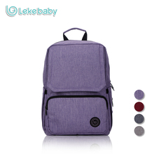 Lekebaby Fashion Mummy Maternity Bag Large Capacity Diaper Backpack Waterproof Baby Bag with Changing Pad for Travel Outdoors