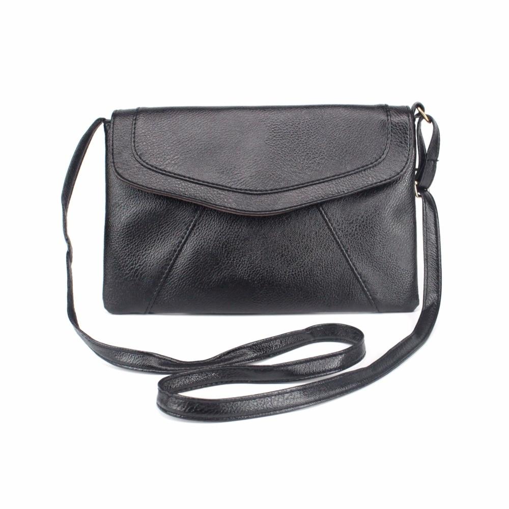 Vintage Simple Fashion Envelope Clutch Bag Solid Women bag Small Women Shoulder Messenger Cross Body Bags Bolsas feminina sac a