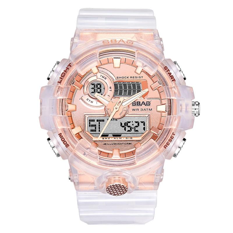 Reloj Mujer Fashion Luminous Electronic Alarm Clock Big Sport Watch Women Digital Watch Women Student Watch Zegarek Pandora &A