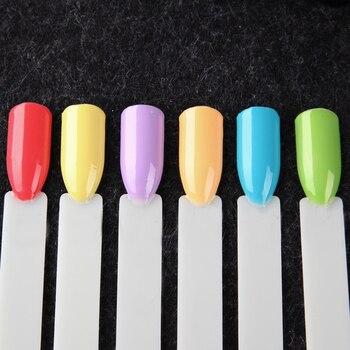 ROSALIND Gel Nail Polish Set 6PCS/Set 7ML Semi Permanent Pure Colors UV LED Soak off Manicure Set Nails Art for Design Nail Kit 3