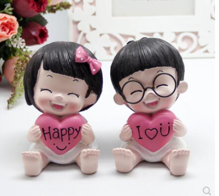 Provide The Best Mari/ée et poup/ée de Mariage Groom Cartoon PVC Couple Figurines Miniatures g/âteau D/écoration de Bricolage Accueil Ornement