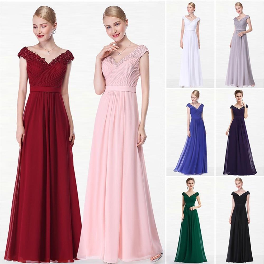 14d1e83dd Sexy vestidos De noche largo De gasa en vestidos De noche Formal De mujer