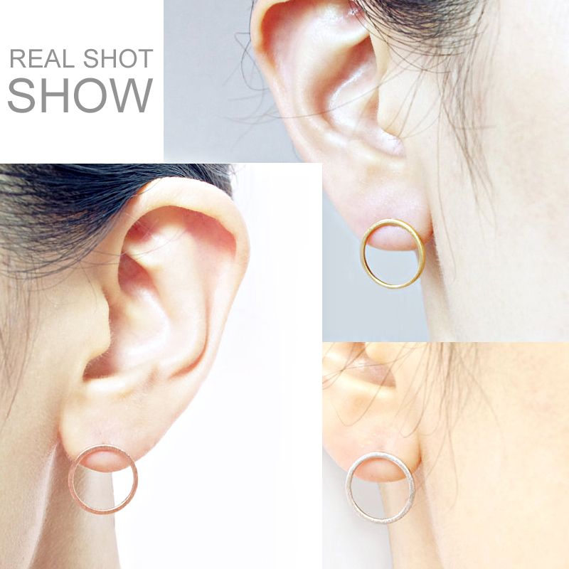 Hfarich New Fashion Geometric Circle studs Earrings for women Simple Small Cricle women earrings Party gift Dropshipping Jewelry
