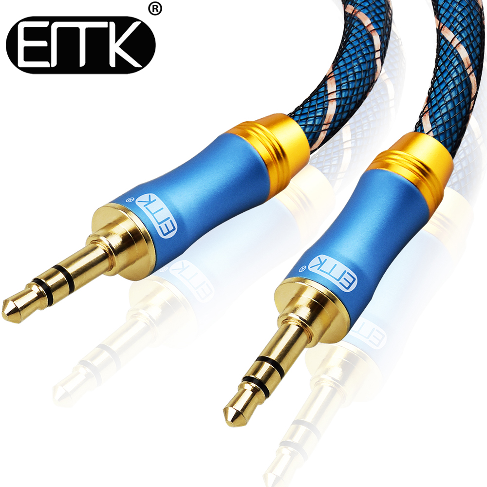 Computer Cables & Connectors 3.5 Mm Headphone Microphone Audio Adapter Cable Y-splitter Output Plus Input Propagation Woven Jacket Jq0326