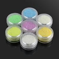 7 Colors Luxury Mini Fluorite Small gravel Nail Art Decorations Circle Beed DIY 3D Decoration Nail Art Free Shipping