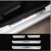 Car Sticker Styling For 2016 2017 Honda Civic Accessories Stainless Door Sill Scuff Plate Cover Trim
